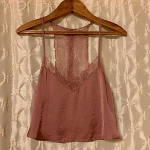 Free People Intimately Cropped Lace Cami